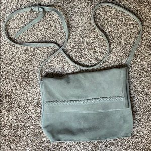 Bags - Light green, suede purse